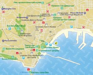 Карта Неаполя фото