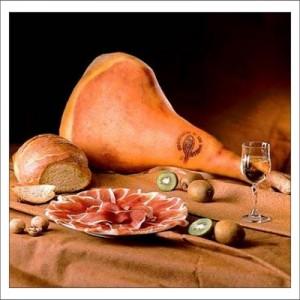 Итальянские продукты. Ветчина фото