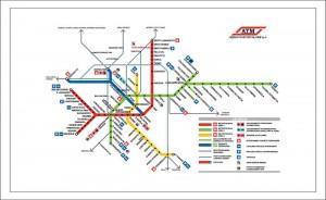 Карта Метрополитена Милана фото