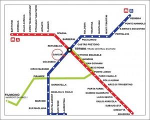 Карта метро Рима фото