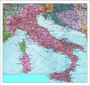 Политико-географическое положение Италии. Карта Италии. фото