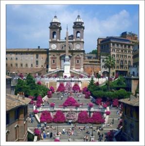 Достопримечательности Рима. Испанская лестница фото